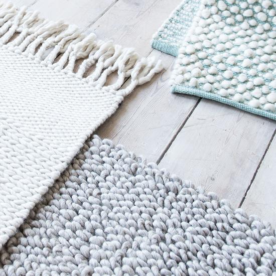 Bobble woven rug range