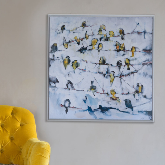 Little Yellow Birds Ben Lowe canvas print