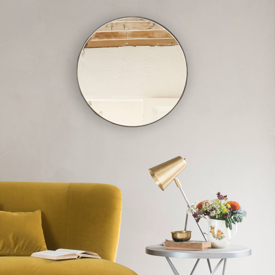 Jago Wall Mounted Plain Circular Round Mirror