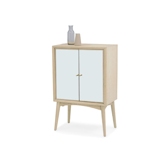 Trixie small modern mirrored sideboard