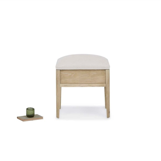 Lippy wooden dressing table stool