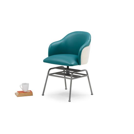 Milkshake leather retro kitchen chair in Teal