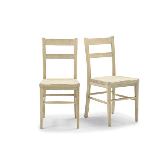 Idler wooden dining chair in Natural finish