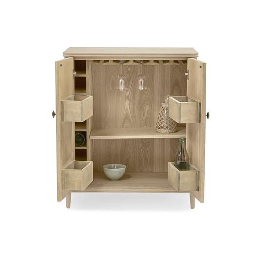 Bootleg drinks cabinet oak wood detail