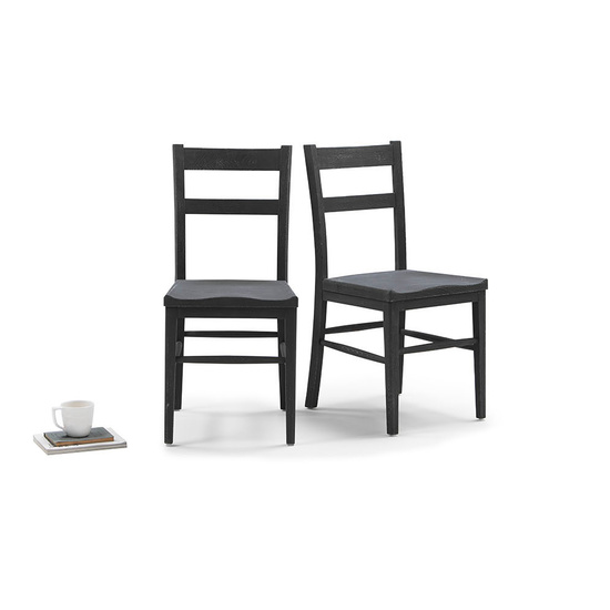 Idler wooden kitchen chair in Charcoal finish