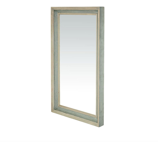 Rectangular Dopple wall mirror with wood frame