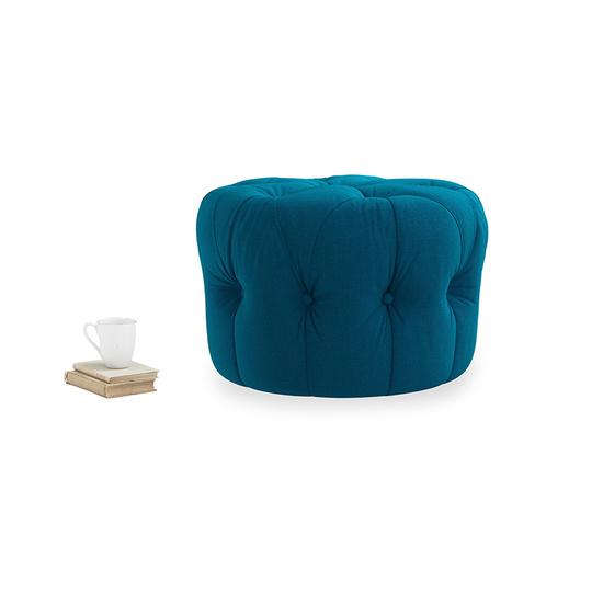 Gumdrop round footstool