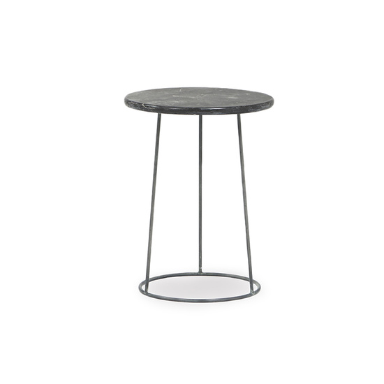 Hot Shot limestone side table