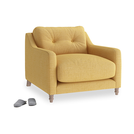 Slim Jim button back slim armchair