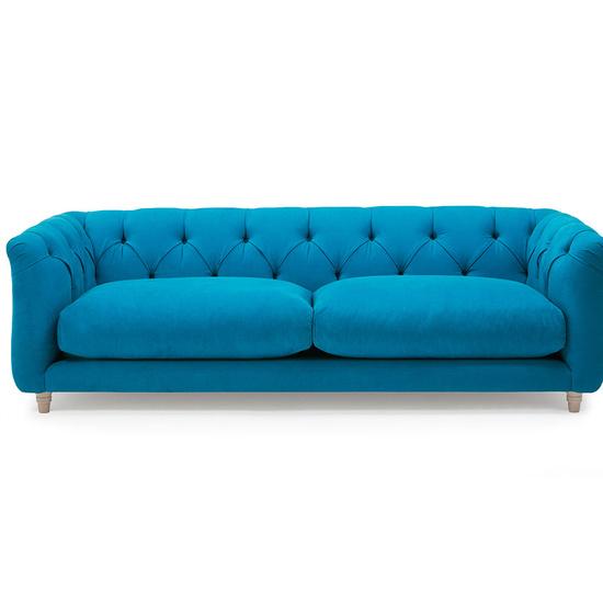 Boho button back deep sofa
