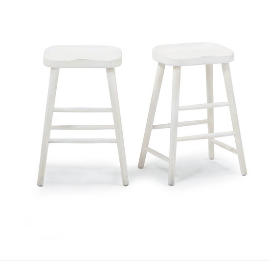 Bumble kitchen bar stool in Calm White