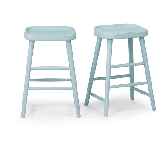 Bumble kitchen bar stool in Easy Blue