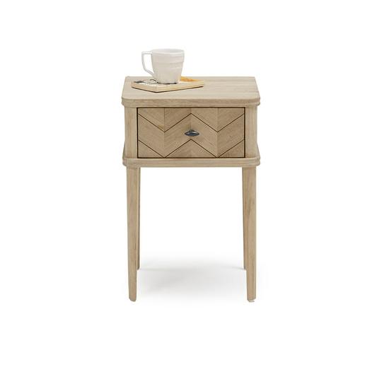Little Flapper parquet bedside table