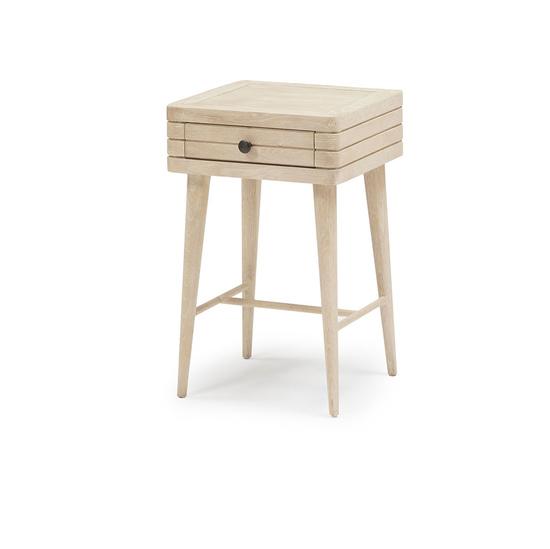 Little Groover bleached oak bedside table