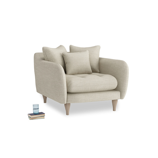 shell laundered linen skinny minny armchair
