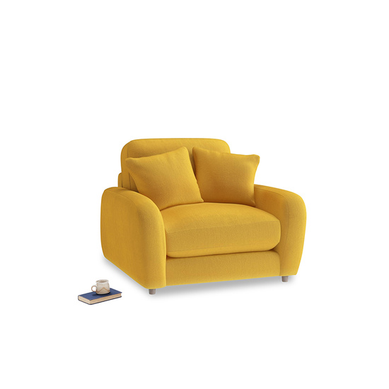 pollen clever deep velvet easy squeeze armchair