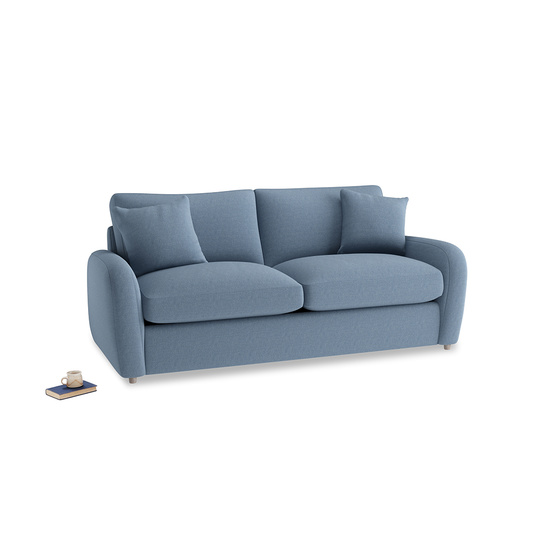 Nordic Blue Brushed Cotton Easy Squeeze Medium Sofabed