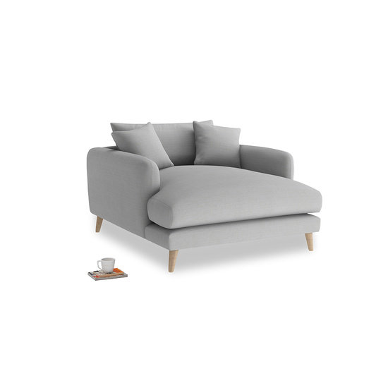 Pewter Clever Softie Squishmeister Love Seat Chaise