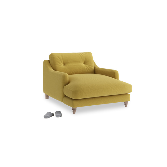 Maize Yellow Brushed Cotton Slim Jim Love Seat Chaise