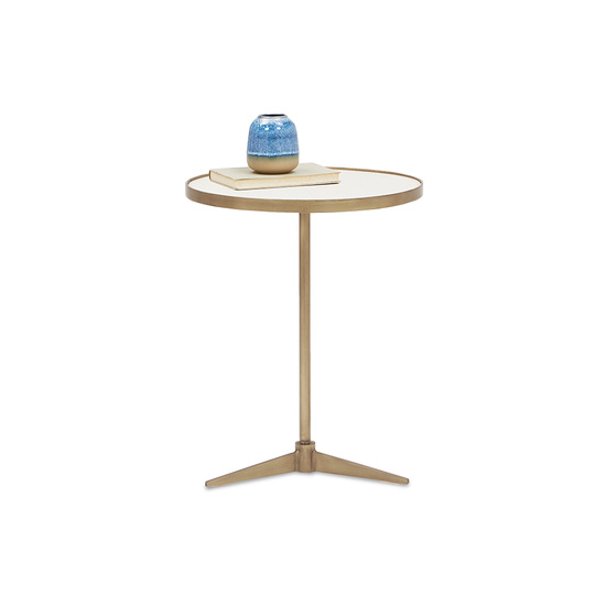 Vino small round side table front