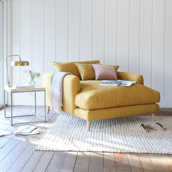 Squishmeister love seat chaise