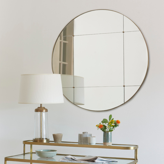 Woogie Round Frameless Wall Mirror