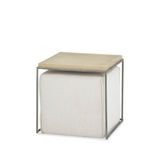 Caboodle Wooden Side Table and pouffe