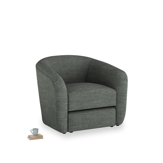pencil grey clever laundered linen Tootsie Chair