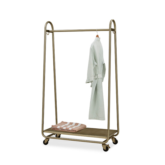 Bellboy Free Standing Brass Hanging Rail