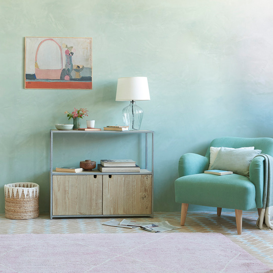 Low Tim Handmade Wood and Metal Sideboard