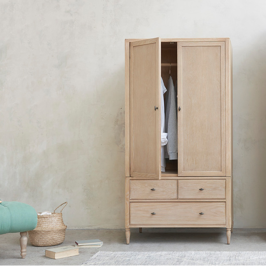 Valentine and Amory Wooden French Style Wardrobe Range