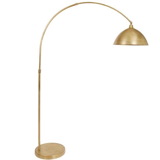 Trailblazer brass arc floor lamp