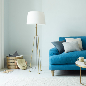 Shutterbug Brass Tripod Floor Lamp