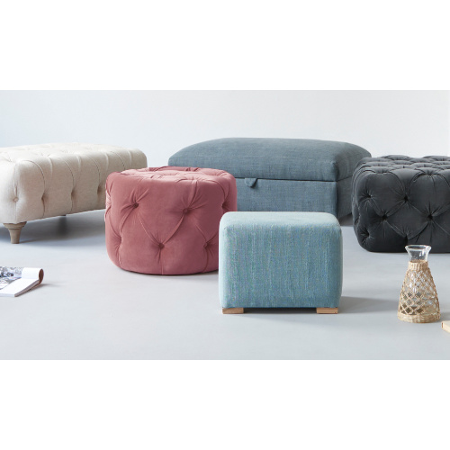 Footstools bright upholstered storage pouffe range