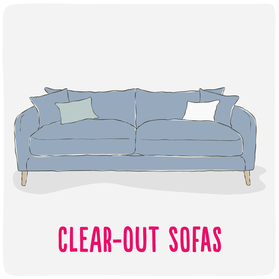 Clear-out sofas