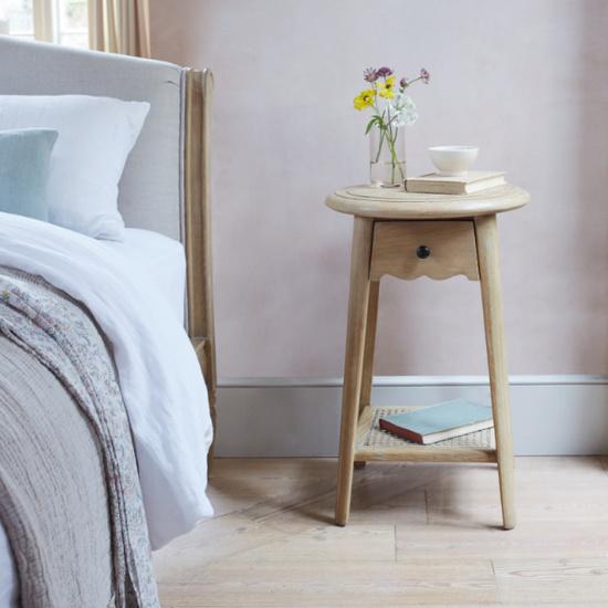 Agatha handmade round bedside table