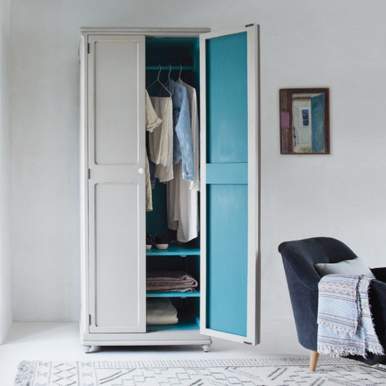 Grand Popinjay colourful narrow wardrobe