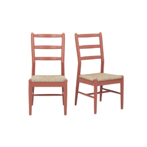 Hobnob chairs in Earthy Red