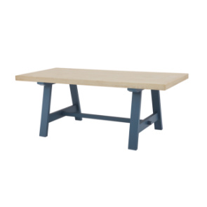 Trestle kitchen table in Heritage Blue
