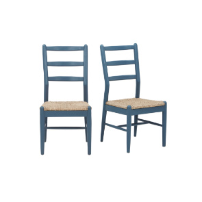 Hobnob chairs in Heritage Blue
