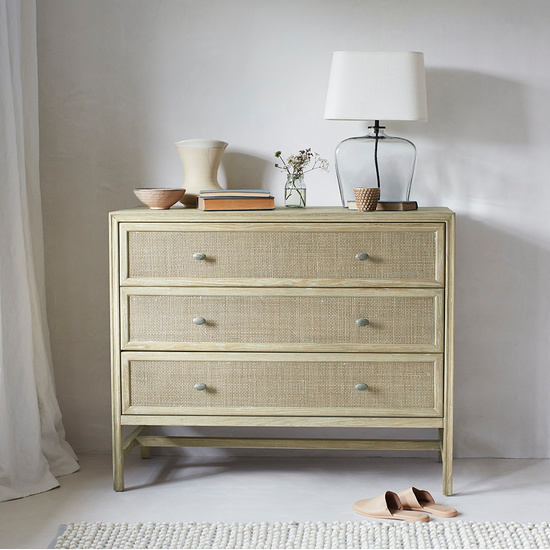 Willow mid century wooden chest of drawers