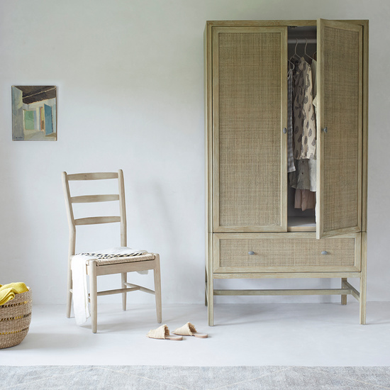 408594 willow woven wooden bedroom furniture