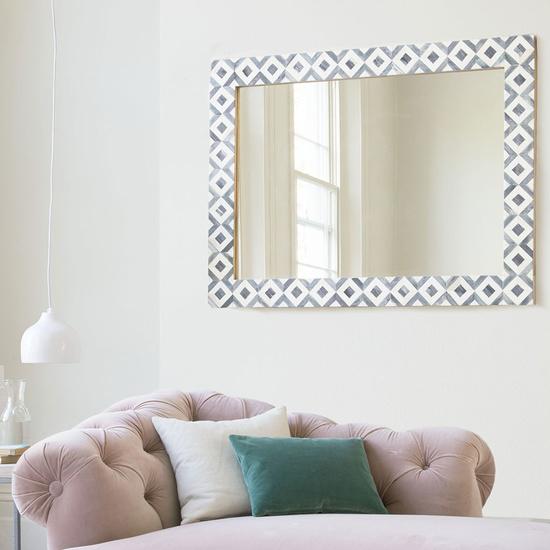265688 banyan bone inlay black white mirror