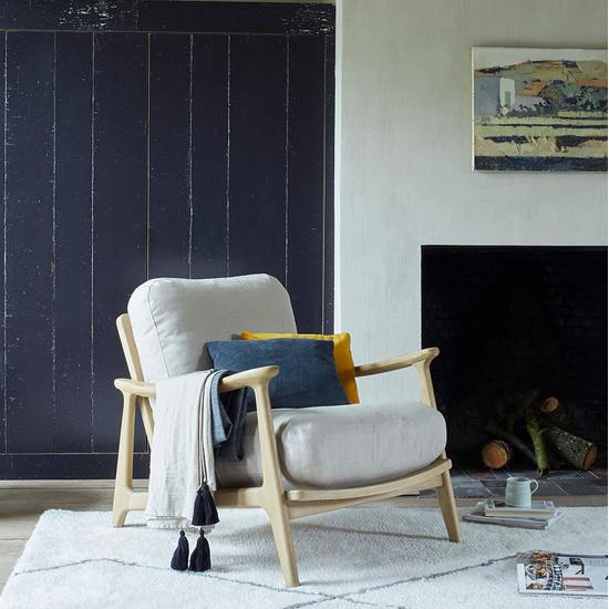 Squishbag wooden frame armchair cushion