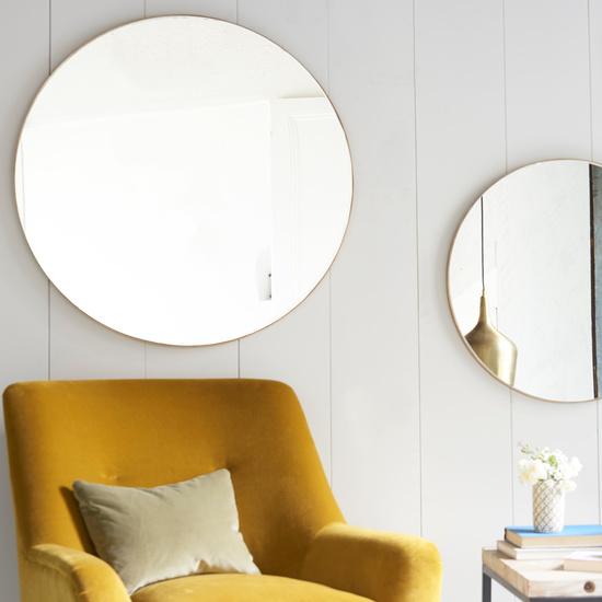 Real Deal brass round mirror
