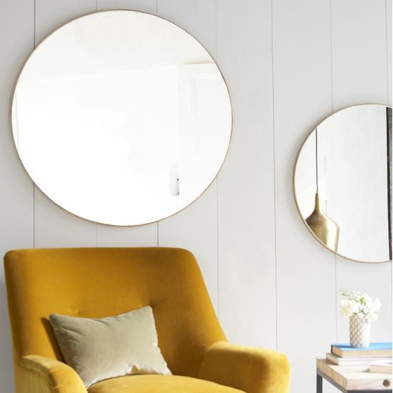 271730 real deal brass round mirror