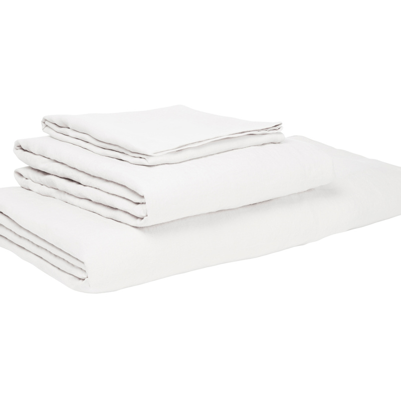 Lazy Linen Pillowcase x2 in White