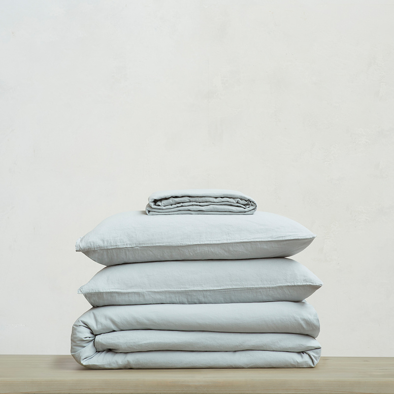 Everyday Linen Bed Linen Bundle in Sky grey